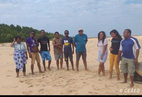 Equipe du CERED sur le térrain dans la région de Mahajanga